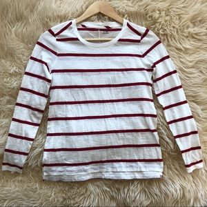 MADEWELL Red and White Stripped Long Sleeve